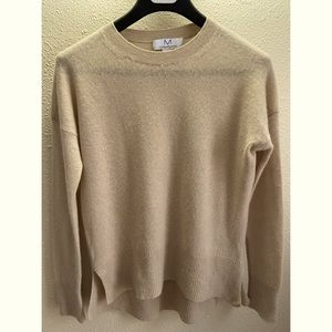 Magaschoni Women 100% Cashmere Tan Sweater Size S